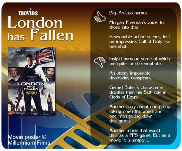 London has Fallen review. 3 thumbs up and 5 thumbs down.
