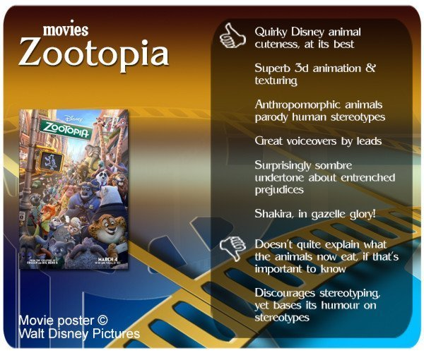 Zootopia movie review. 6 thumbs up and 2 thumbs down.