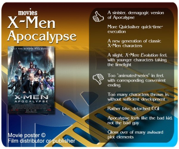 X-Men: Apocalypse review. 4 thumbs up and 5 thumbs down.