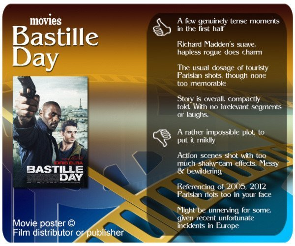 Bastille Day movie review: 4 thumbs up and 4 thumbs down.