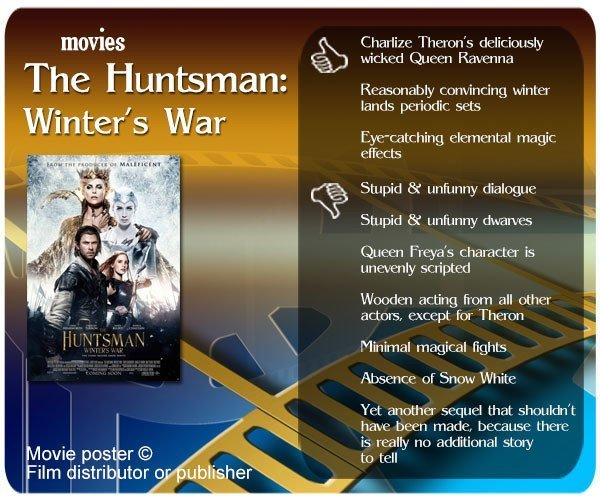 The Huntsman: Winter's War Review: 3 thumbs up and 7 thumbs down.