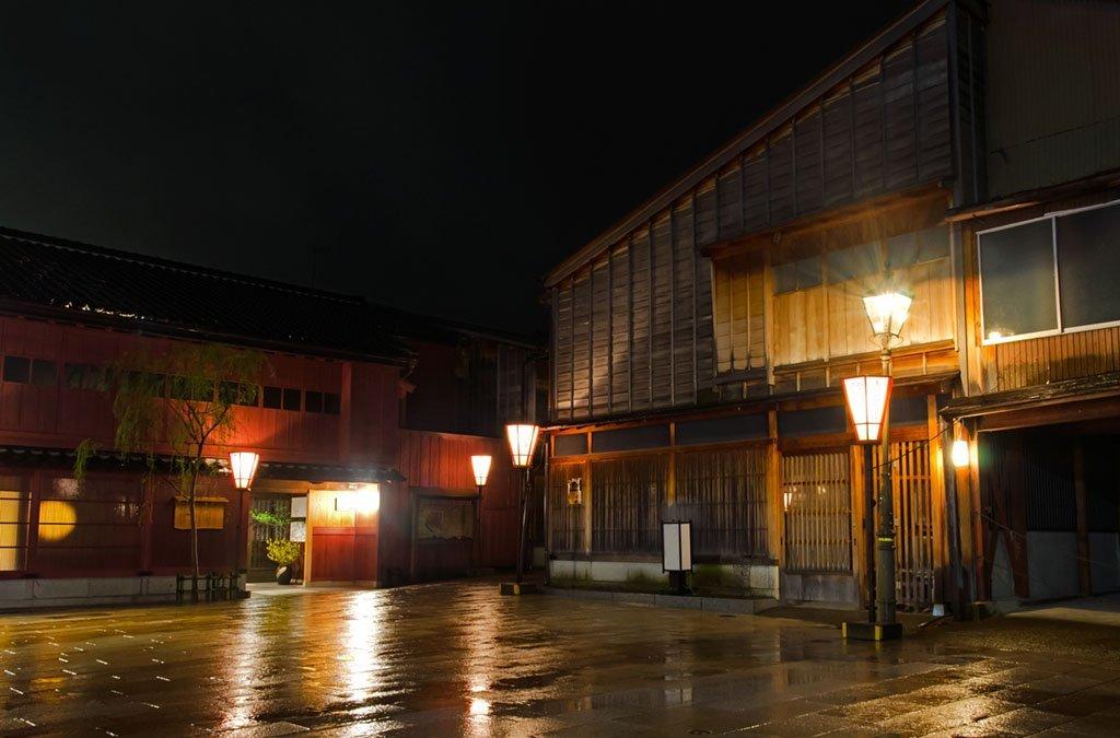 Rainy Night in Kanazawa