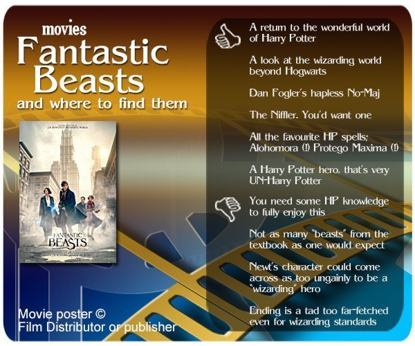 Fantastic Beasts and Where to Find Them review. 6 thumbs up and 4 thumbs down.