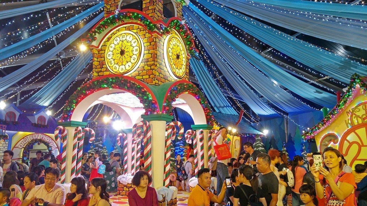 Santa's Village at Universal Studios Singapore.