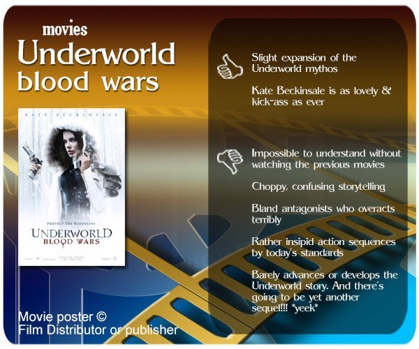 Underworld: Blood Wars review. 2 thumbs up and 5 thumbs down.