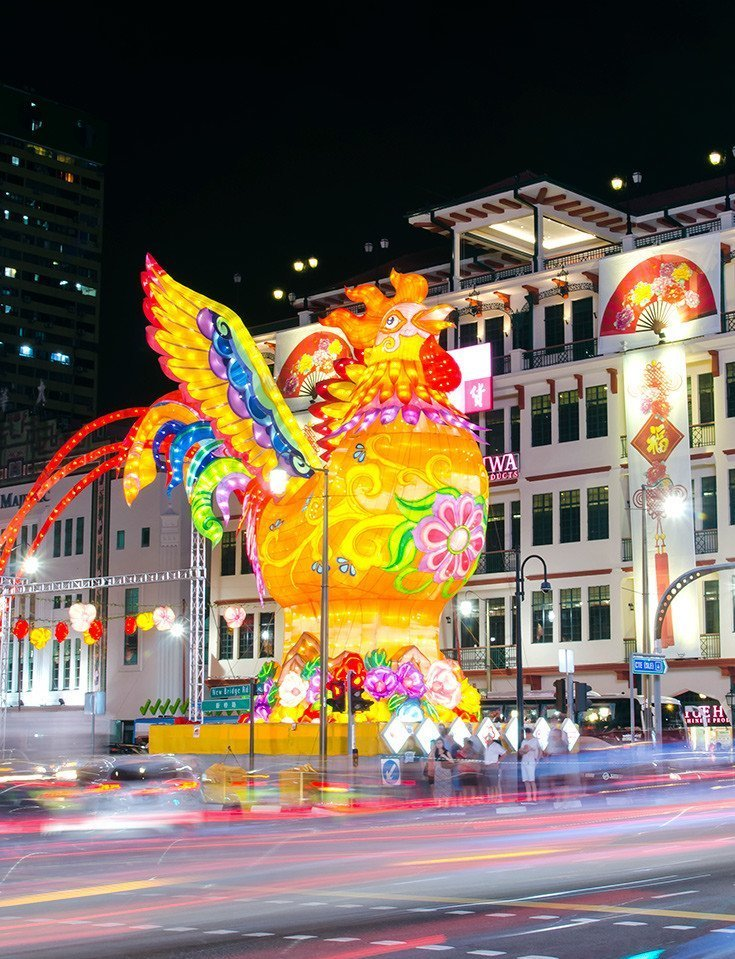 Singapore Chinatown Chinese New Year Rooster 2017.