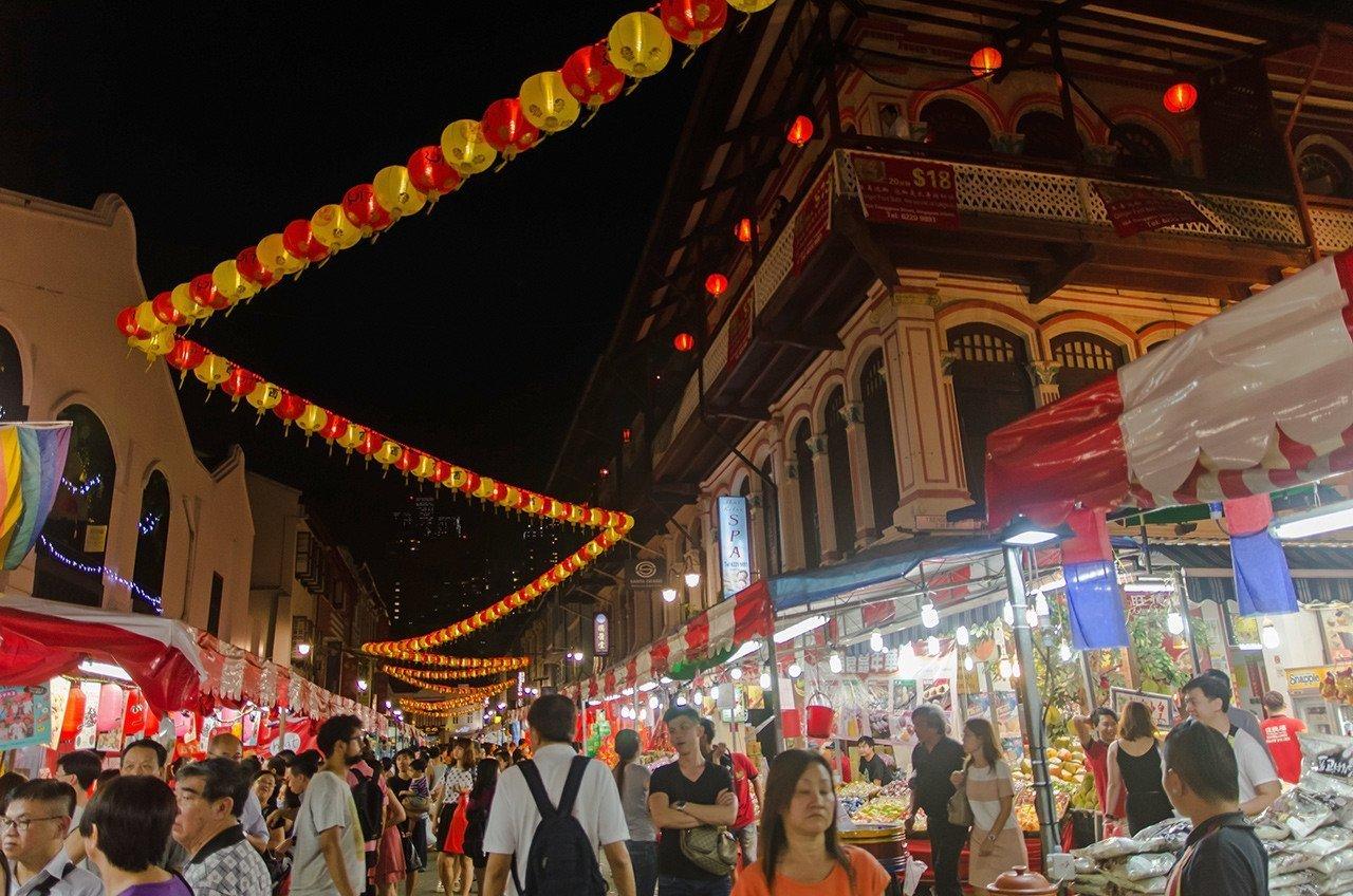 Singapore Chinatown Chinese New Year Street Market 2017.