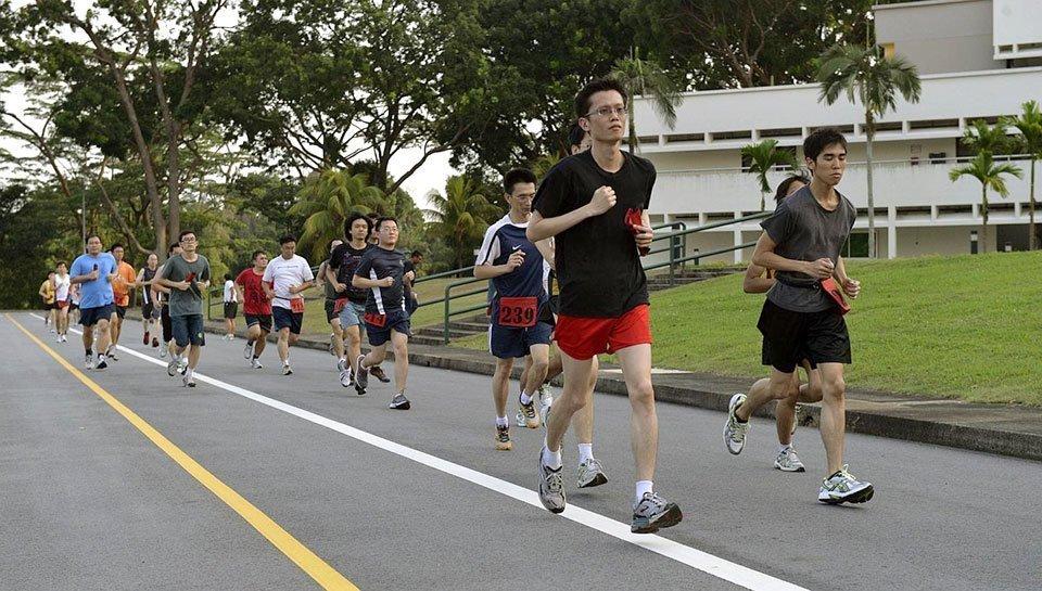 Singapore IPPT 2.4 Run.