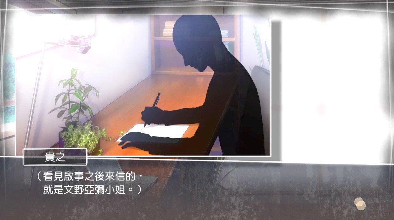 Root Letter Screenshot. A weird visual novel game.