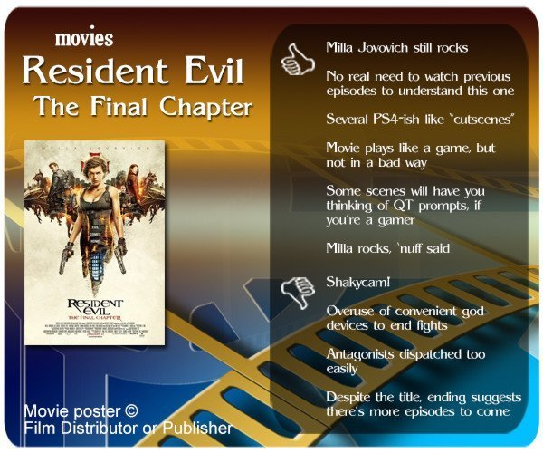 Resident Evil: The Final Chapter review - 6 thumbs up and 4 thumbs down.