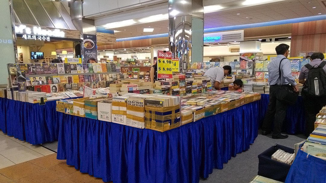 Second Hand Book Fair at HarbourFront Centre.