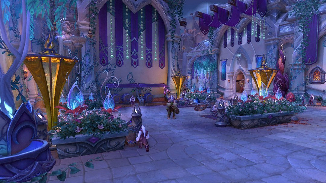The gorgeous city of Suramar in World of Warcraft: Legion