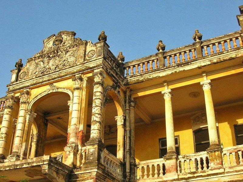 Colonial architecture in Phnom Penh, Cambodia.