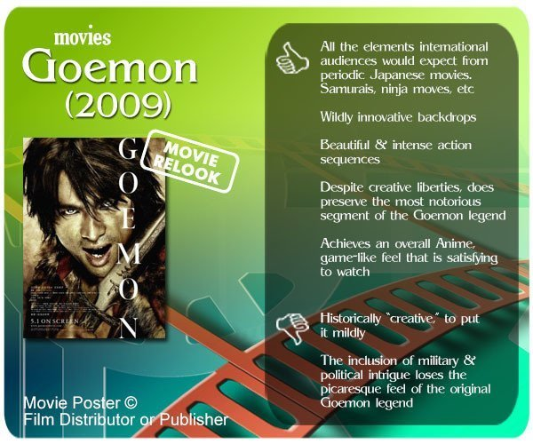 Goemon (2009) review - 5 thumbs up and 2 thumbs down.