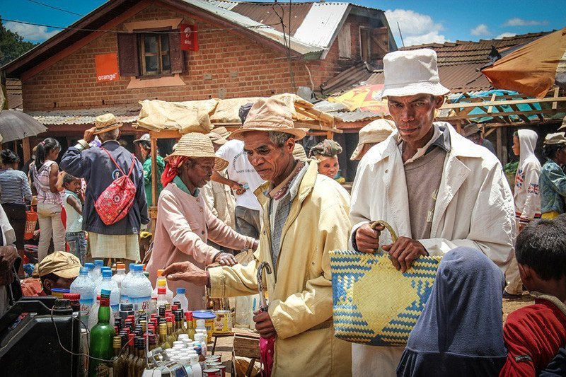 A Malagasy market place.