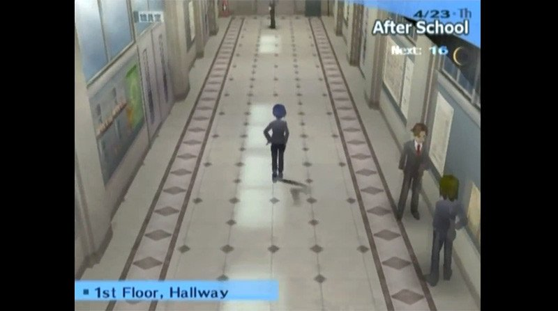 Persona 3 School Corridor Screenshot