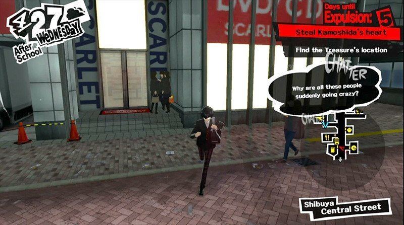 Persona 5 Humor | Stealing from the DVD Shop.