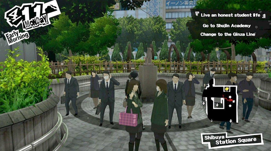 Persona 5 Hachiko Statue.