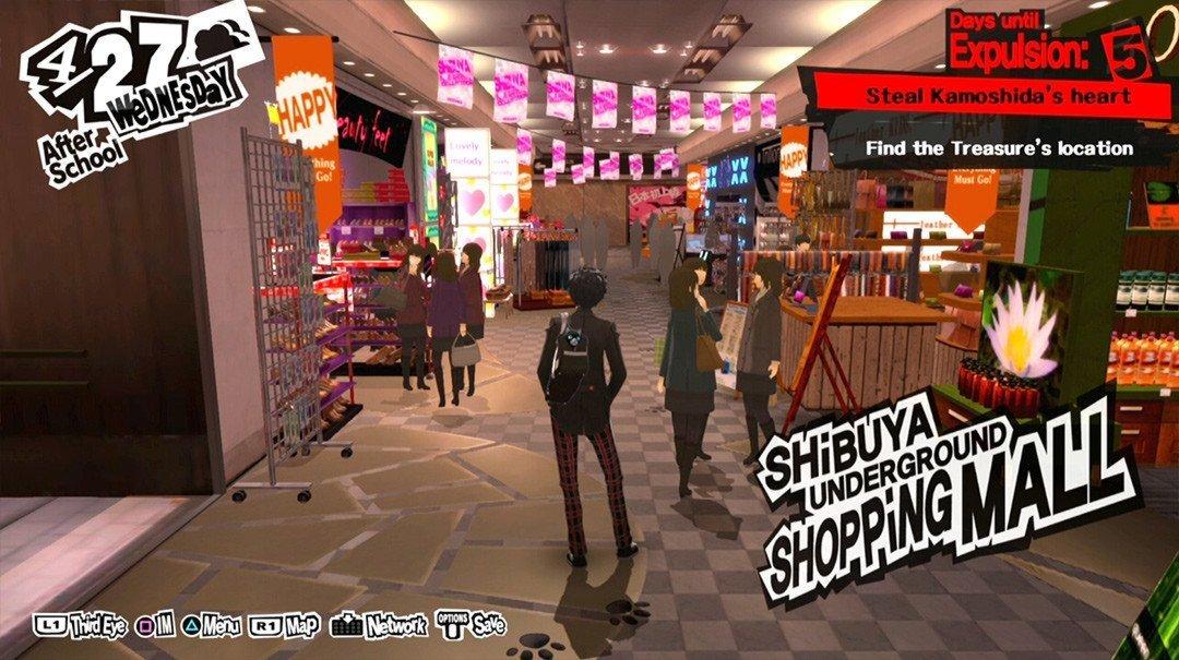 Shibuya Station Underground Mall in P5.