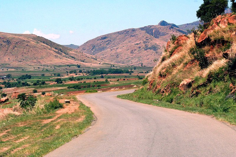 A Malagasy mountain road