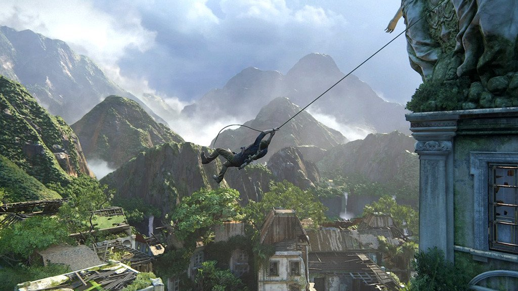 Uncharted 4 Rope Swing!