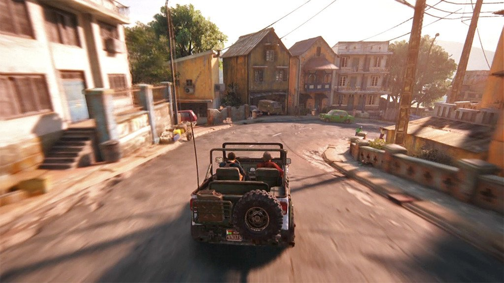 Uncharted 4 King's Bay City Car Chase.
