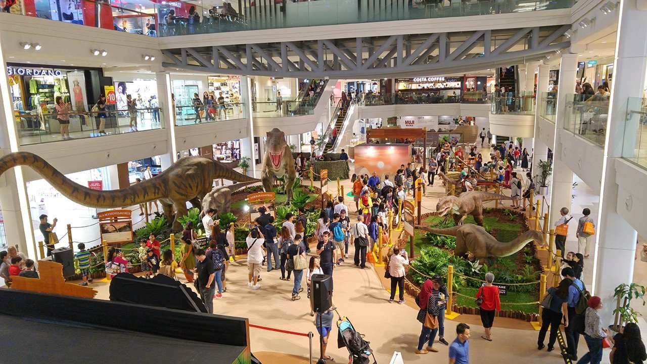 Dinosaur Exhibition in Singapore.