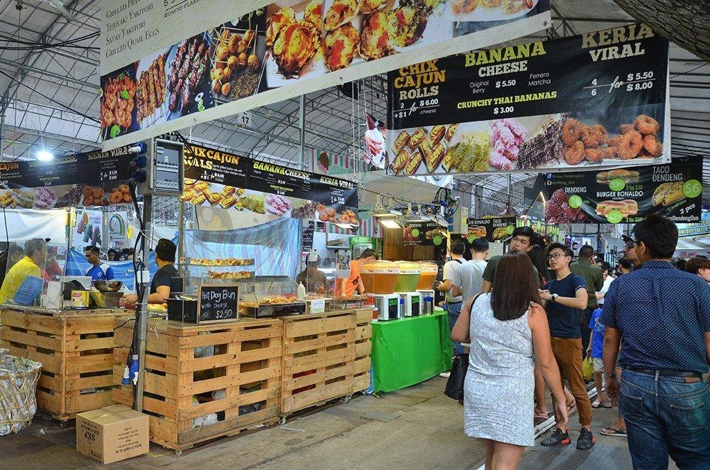 Geylang Serai Ramadan Bazaar 2017 cooked food section.