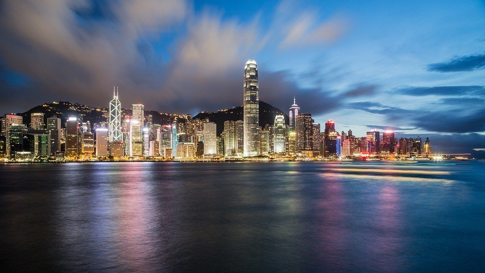 Hong Kong Central District from the Sea.