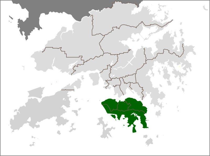 Hong Kong Island Location.