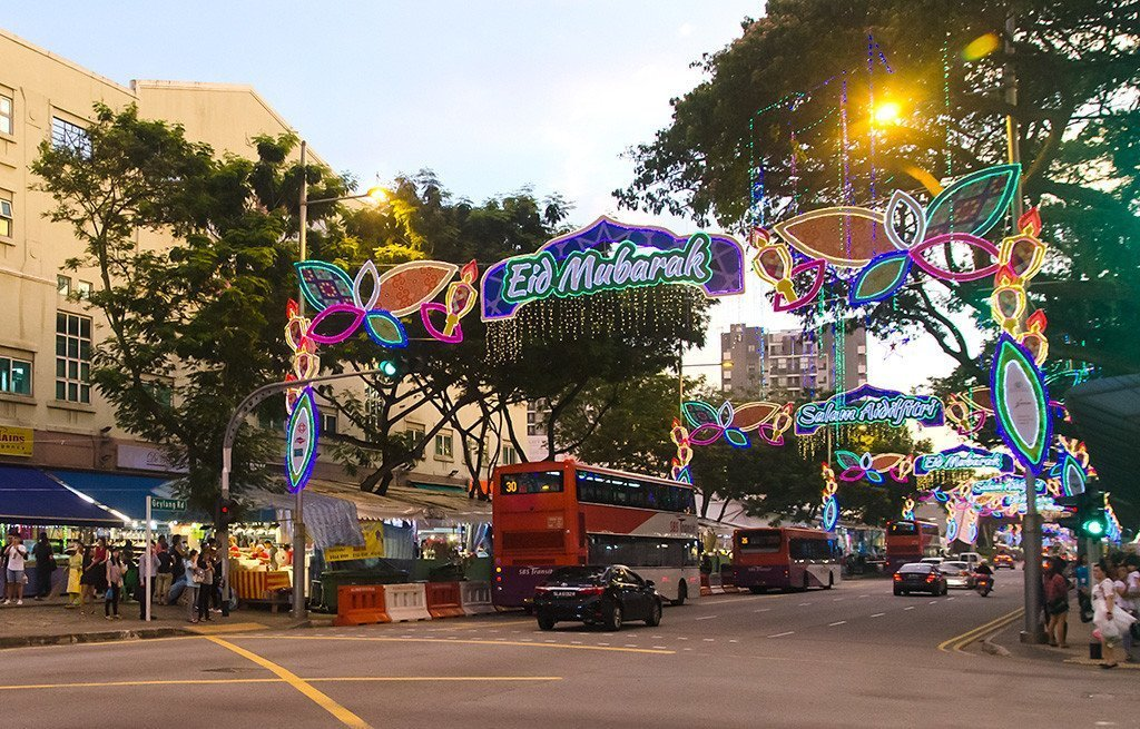 Joo Chiat Road junction during Geylang Serai Bazaar and light-up 2017