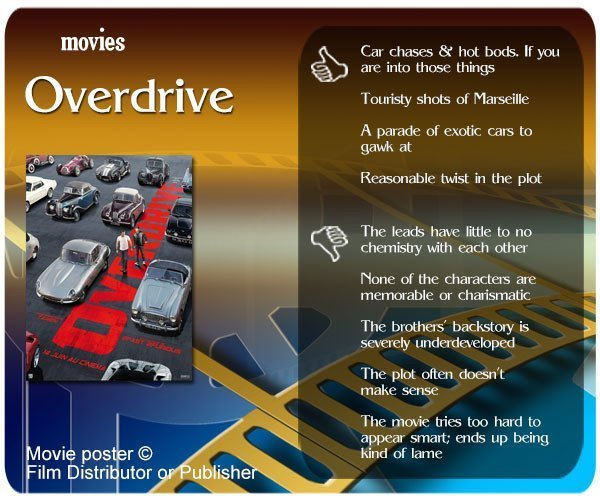 Overdrive (2017 film) review - 4 thumbs up and 5 thumbs down.