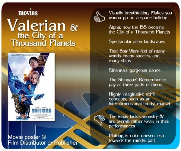 Valerian and the City of a Thousand Planets review - 7 thumbs up and 2 thumbs down.