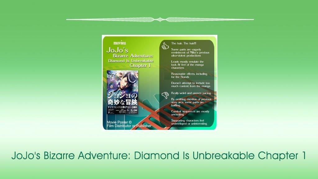 JoJo's Bizarre Adventure: Diamond Is Unbreakable Chapter 1 revie