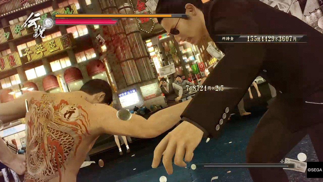 Ryu ga Gotoku 0 combat.
