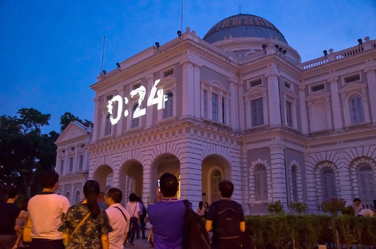 National Museum of Singapore Facade Countdown.