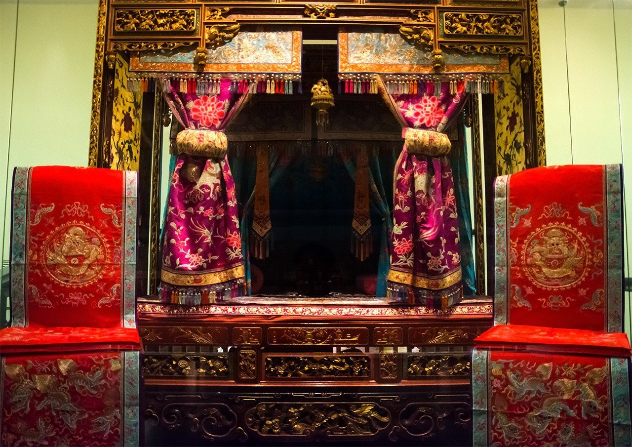Peranakan Wedding Chamber at Peranakan Museum, Singapore.