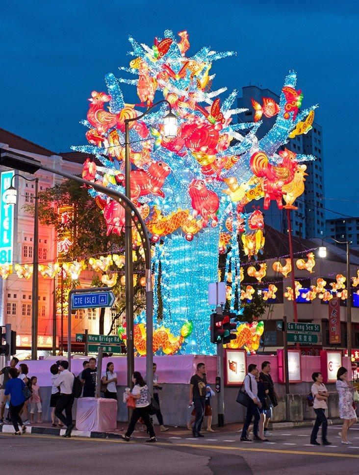 Chinatown Mid-Autumn Festival 2017 Main Showpiece.