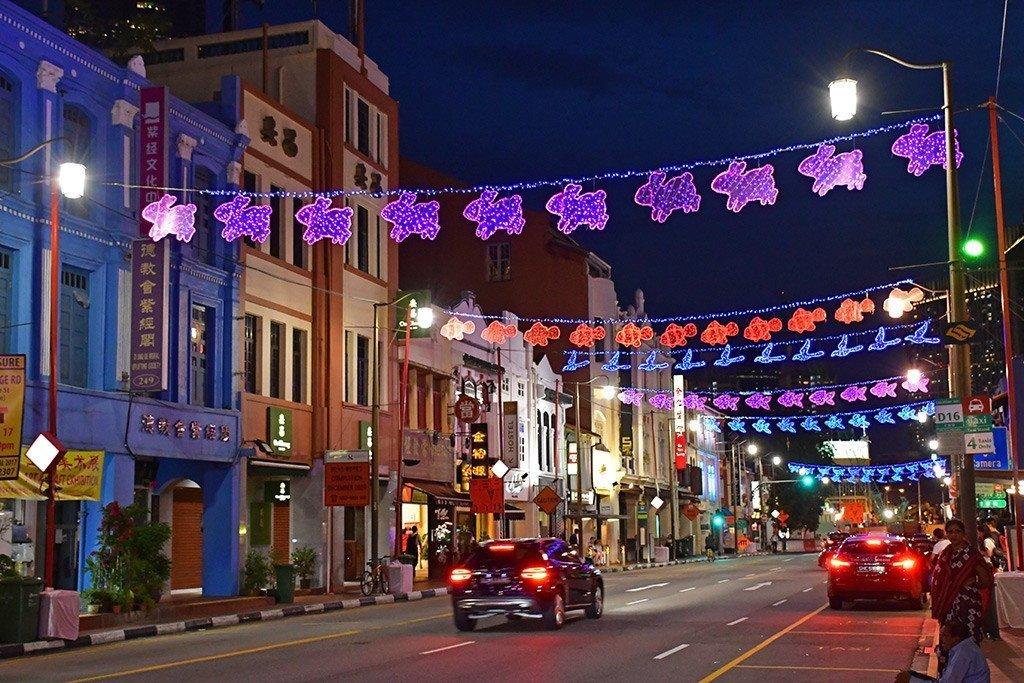 South Bridge Road Festive Lights.