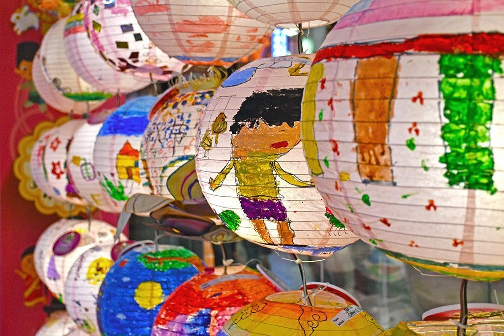 Paper Lantern Painting Competition for Children.