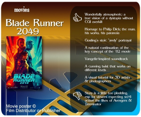 Blade Runner 2049 review - 7 thumbs up and 1 thumbs down.