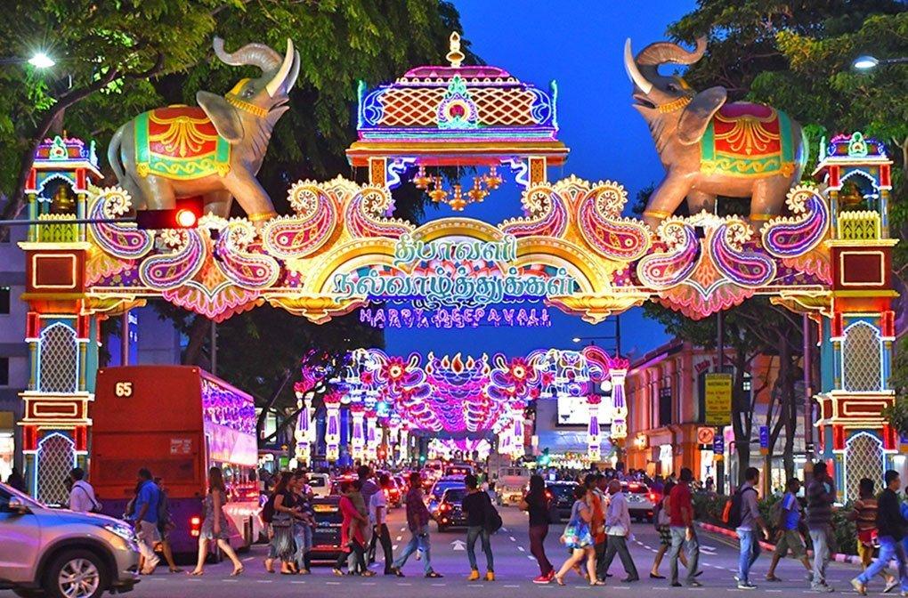 Deepavali Festival of Lights in Singapore.