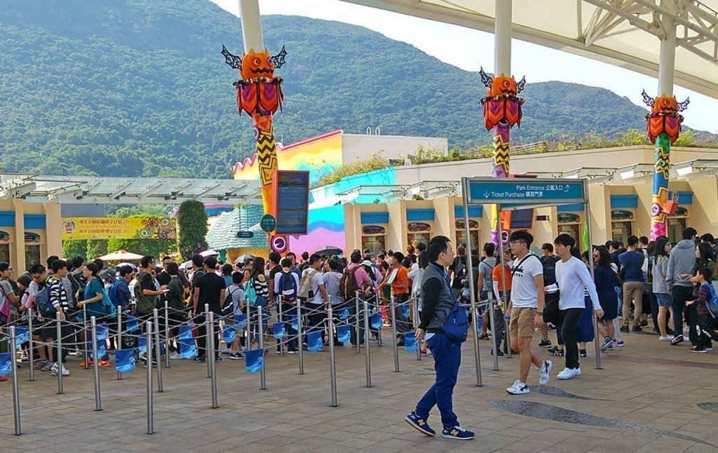 Ocean Park Weekend Queues