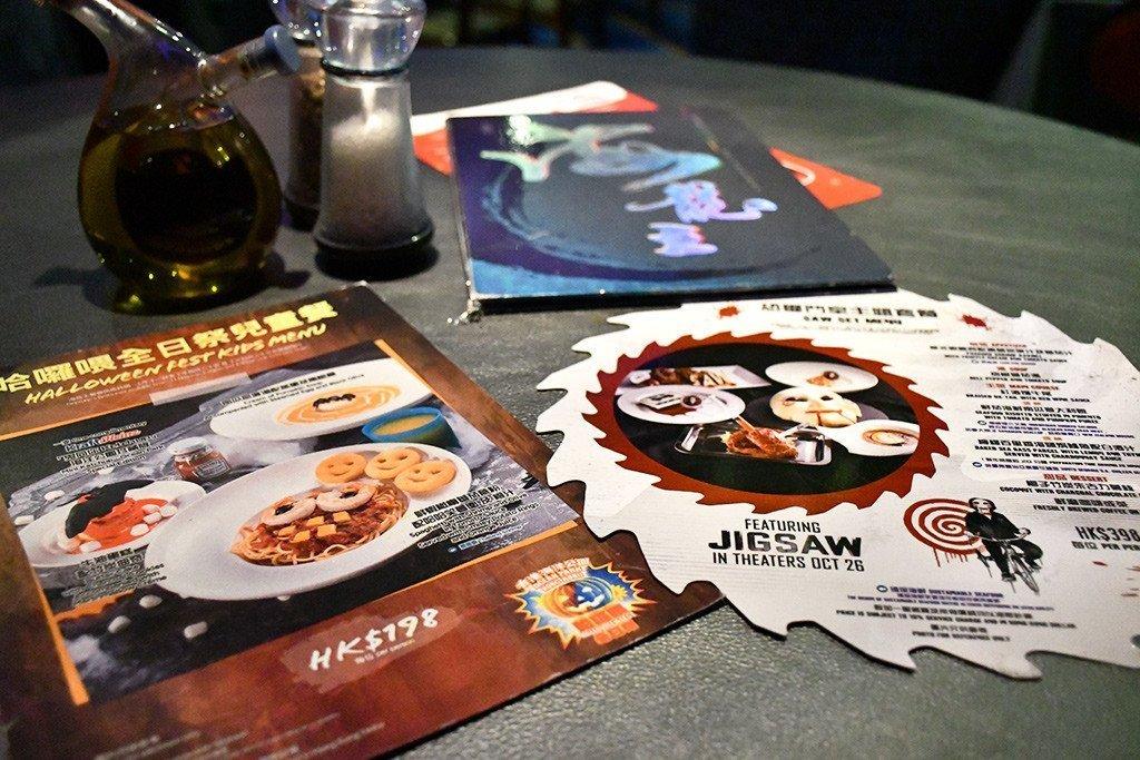 Ocean Park Halloween Fest 2017 festive menus.