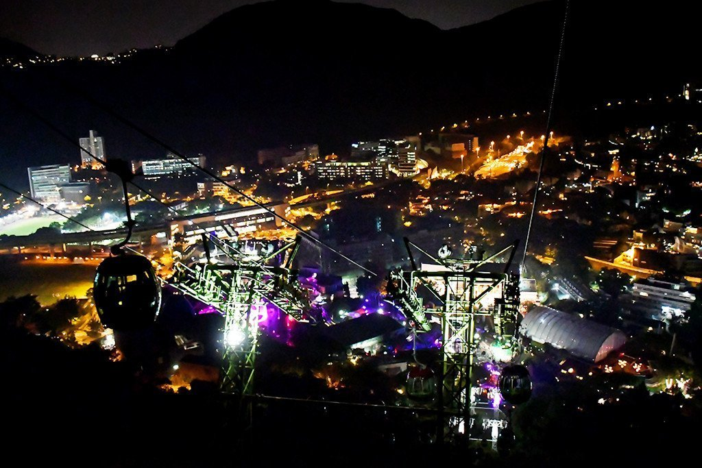 Ocean Park Hong Kong - Waterfront Night View.