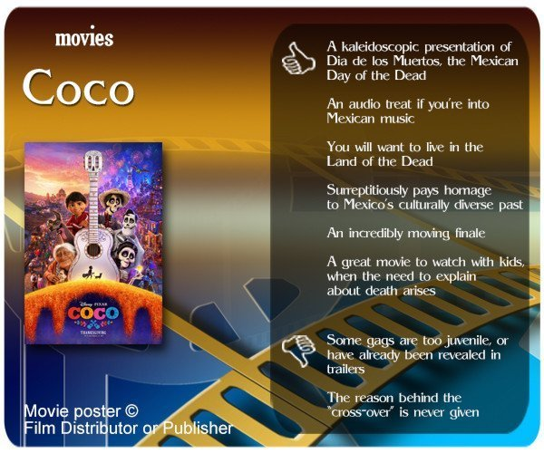 Pixar's Coco review - 6 thumbs up and 2 thumbs down.
