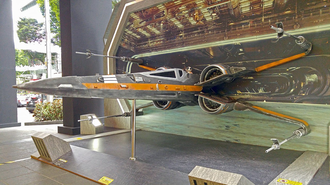 X-Wing Fighter at Orchard Road, Singapore