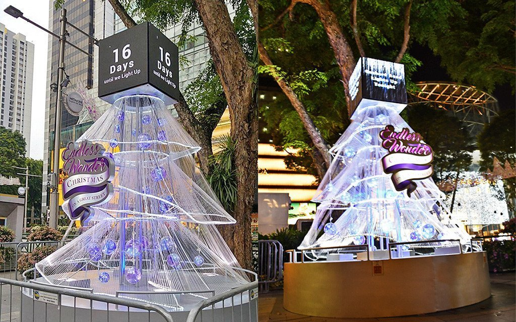 Tree of Time at Orchard Road Christmas Light-Up 2017