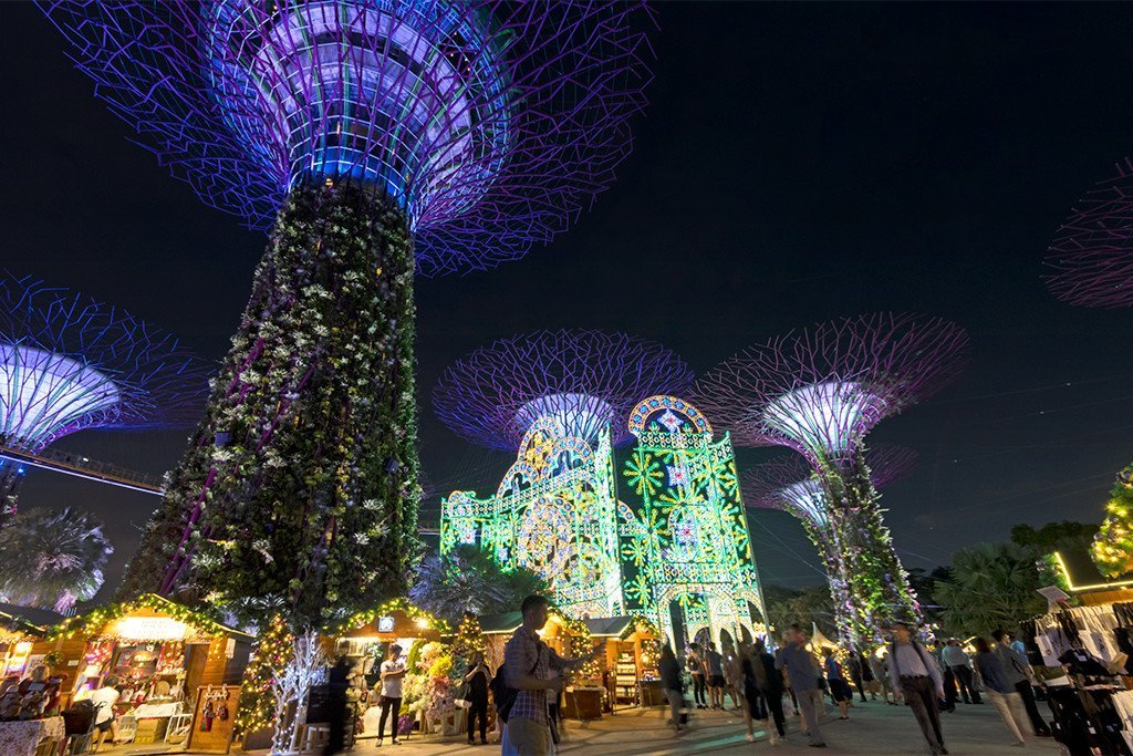 Gardens by the Bay Christmas Luminarie