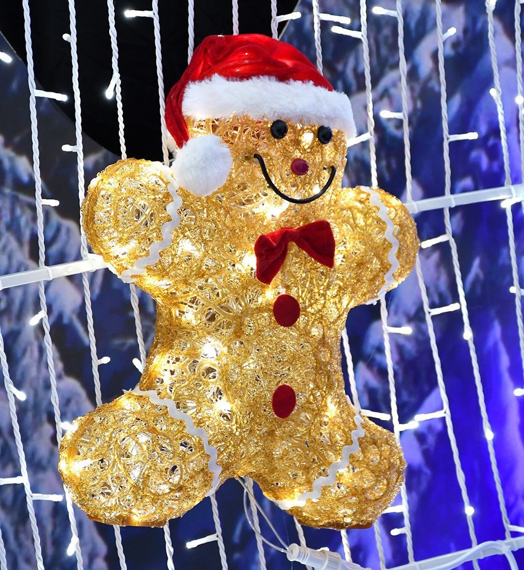 Gingerbread Man at Santa's Grotto, Gardens by the Bay.